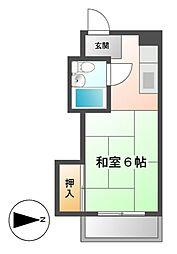 ドルフ千代田[6階]の間取り