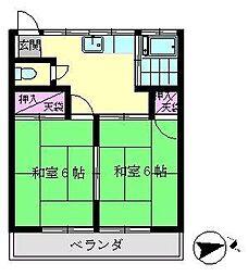 神奈川県横浜市金沢区釜利谷南2丁目の賃貸アパートの間取り