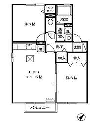 アヴァンティ B[2階]の間取り