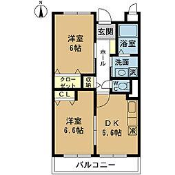 新潟県新潟市西区小針1丁目の賃貸マンションの間取り