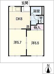タウニー成田[1階]の間取り