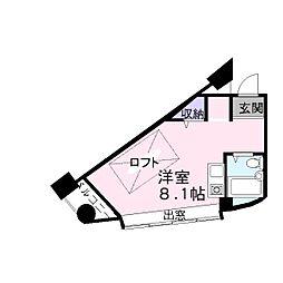加古川ヤングパレス[203号室]の間取り