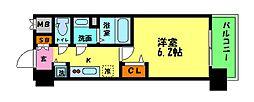 プレサンス新大阪クロステージ 3階1Kの間取り