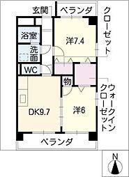 ASTORIA COURT・A[2階]の間取り