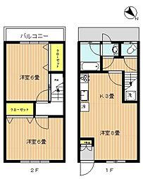 [一戸建] 東京都大田区東馬込1丁目 の賃貸【/】の間取り