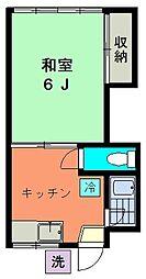 パールハウスB[2階]の間取り