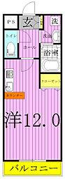 モアルヤタ藤[201号室]の間取り