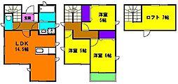 [一戸建] 静岡県浜松市中区高林3丁目 の賃貸【静岡県 / 浜松市中区】の間取り