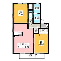 OZON M's[1階]の間取り