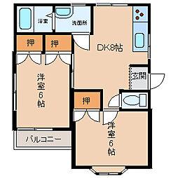 スイートK&T[2階]の間取り