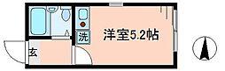 ベルエステート竹ノ塚A[1階]の間取り