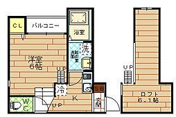 アミールエイト[2階]の間取り