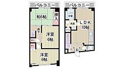 サザン神戸品川[6階]の間取り