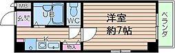 U-ro大国町[8階]の間取り
