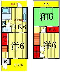 [テラスハウス] 東京都足立区足立1丁目 の賃貸【/】の間取り