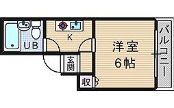 プレミール北堀江[5階]の間取り