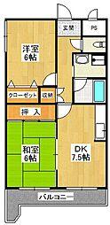 ピアコート壱番館[3階]の間取り
