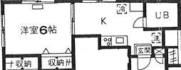 コーポキネマ bt[208kk号室]の間取り