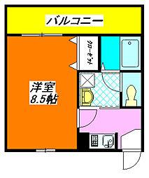 アデレード・長田 303号室[3階]の間取り