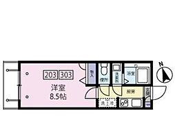 東京都練馬区中村南2丁目の賃貸マンションの間取り