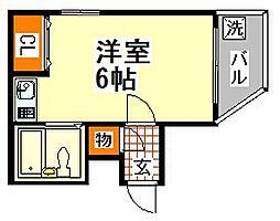 兵庫県神戸市須磨区飛松町1丁目の賃貸マンションの間取り