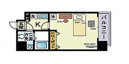 家具・家電付きピュアドームヴィアーレ博多[4階]の間取り