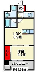 Apartment 3771[802号室]の間取り