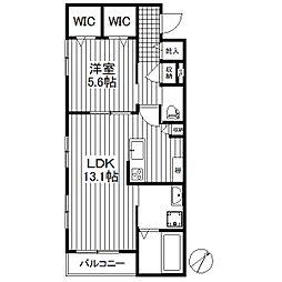 東京都世田谷区太子堂3丁目の賃貸マンションの間取り