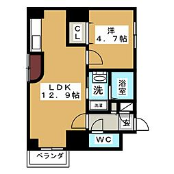 アウローラ泉'04[8階]の間取り