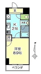 フロレゾン金池[4階]の間取り