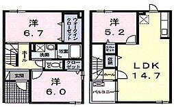 [一戸建] 広島県福山市多治米町5丁目 の賃貸【/】の間取り