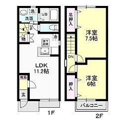 Clover House[107号室]の間取り