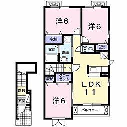 Villa 秋桜[2階]の間取り