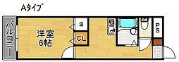 グランドムール天下茶屋[2階]の間取り