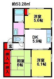 コンフォール川原田[A101号室]の間取り