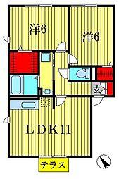 メゾン・ルミエールI・II[2階]の間取り