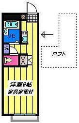埼玉県さいたま市岩槻区南平野4丁目の賃貸アパートの間取り
