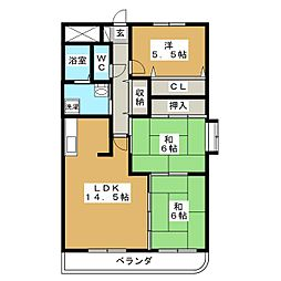 サニーコート坂野[2階]の間取り