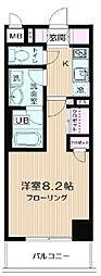 JR京葉線 潮見駅 徒歩16分の賃貸マンション 8階1Kの間取り