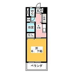 リバーリッチマンション[6階]の間取り