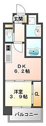ライブガーデン江坂IV[3階]の間取り