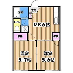 サンモール東豊田[1階]の間取り