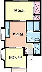 神奈川県横浜市磯子区洋光台6丁目の賃貸アパートの間取り