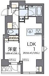 LOVIE銀座東[2階]の間取り