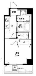 都営大江戸線 若松河田駅 徒歩4分の賃貸マンション 2階1Kの間取り