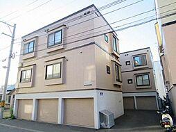 北海道札幌市白石区菊水八条3丁目の賃貸アパートの外観