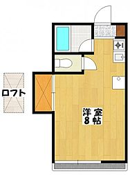 メゾンメグ3[2階]の間取り