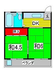 コーポ芝[2階]の間取り