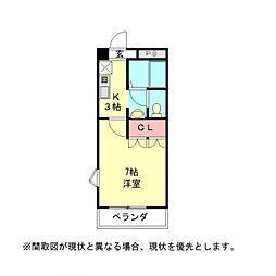 愛知県一宮市千秋町佐野字郷浦の賃貸アパートの間取り