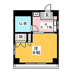 レインボーハイツマキ[5階]の間取り